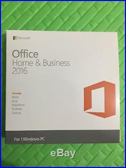 Microsoft Office Home & Business 2016 for pc(DVD AND KEY)