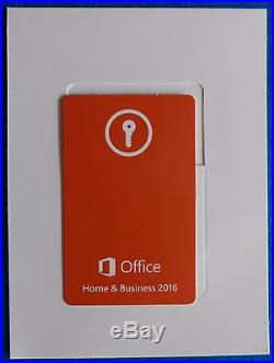 Microsoft Office Home & Business 2016 with Outlook Full Retail version for 1 PC