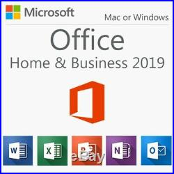 Microsoft Office Home & Business 2019 1 User Product Key PC MAC and FLASH DRIVE