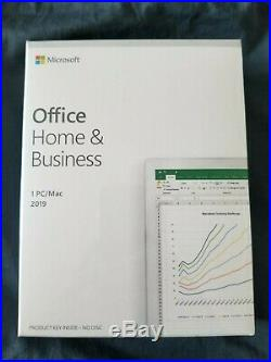 Microsoft Office Home & Business 2019 for PC/Mac Full Version Brand New Sealed