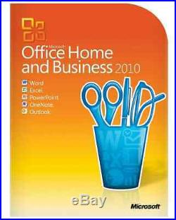 Microsoft Office Home & Business Word 2010 Edition for 2 PC's Retail Box NEW