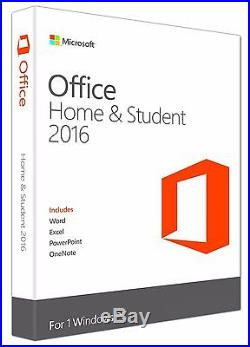 Microsoft Office Home & Student 2016 for Windows PC Word Excel PowerPoint