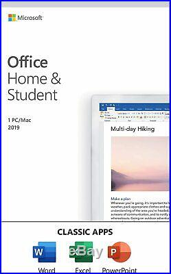 Microsoft Office Home & Student 2019 For 1 User (1 PC & Mac)