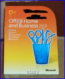 Microsoft Office Home and Business 2010 Full Retail DVD with product key 3 users