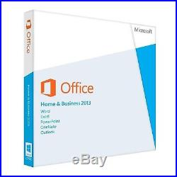 Microsoft Office Home and Business 2013 32 and 64 Bit BOXED
