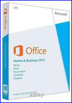 Microsoft Office Home and Business 2013 PKC 32/64bit T5D-01575 Medialess