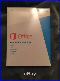 Microsoft Office Home and Business 2013 Retail Word Excel Outlook Brand New