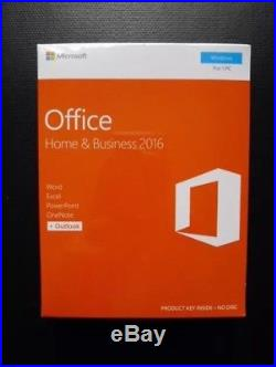 Microsoft Office Home and Business 2016 (Brand New Genuine Unopened) RRP £179