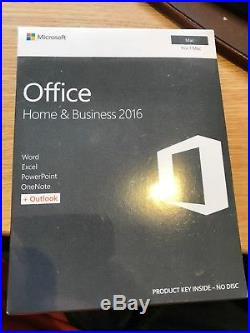 Microsoft Office Home and Business 2016 FOR MAC Word Excel Outlook W6F-00952 NEW