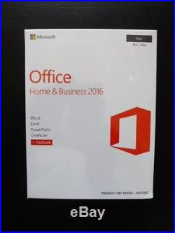 Microsoft Office Home and Business 2016 FOR MAC Word Excel Outlook W6F-01029 NEW