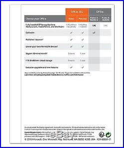 Microsoft Office Home and Business 2016 PC English Download/Key Windows Genuine