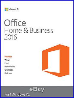 Microsoft Office Home and Business 2016 Windows English PC Key Card & DVD