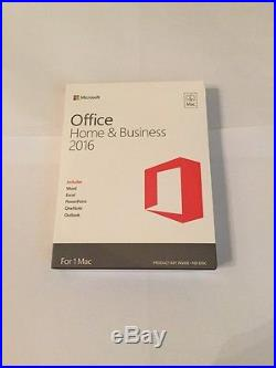 Microsoft Office Home and Business 2016 for Mac W6F-00501 New Sealed Retail