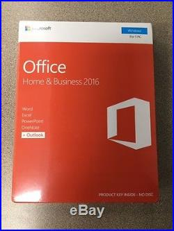 Microsoft Office Home and Business 2016 for Windows Full Version Retail boxed