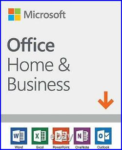 Microsoft Office Home and Business 2019 1 device, Windows 10 PC/Mac PKC
