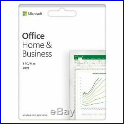 Microsoft Office Home and Business 2019 For 1 PC Genuine (New & Sealed)
