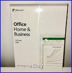 Microsoft Office Home and Business 2019 For 1 PC Genuine / New & Sealed