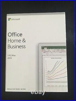 Microsoft Office Home and Business 2019 For 1 PC Retail Box Brand New
