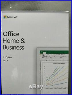 Microsoft Office Home and Business 2019 RETAIL BOX Win 10 PC OR MAC OSX