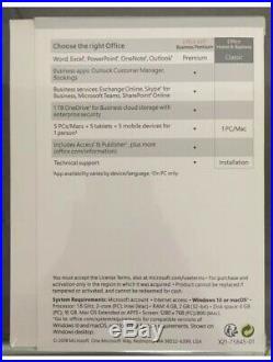 Microsoft Office Home and Business 2019 Windows/Mac 1 license PC Key TD-03203