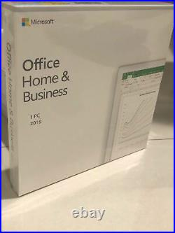 Microsoft Office Home and Business 2019 for 1 PC, Included DVD And Key Card