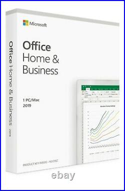 Microsoft Office Home and Business 2019 for WINDOWS/MAC New Genuine LICENSE