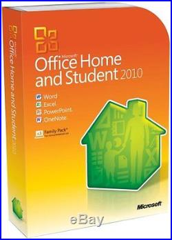 Microsoft Office Home and Student 2010 Family Pack, 3PC Disc Version