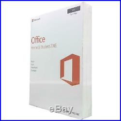 Microsoft Office Home and & Student 2016 GZA-01070 For 1 Mac New Retail Box