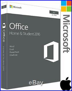 Microsoft Office Home and Student 2016 Mac Retail Box Sealed UK GENUINE Software