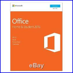 Microsoft Office Home and Student 2016 Windows English PC Key Card 79G-04589