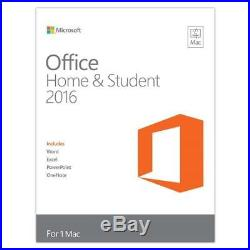 Microsoft Office Home and Student 2016 for Mac, Mac Key Card, Boxed #GZA-00850