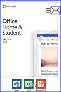 Microsoft Office Home and Student 2019 1 Device PC Windows 10 or Mac Lifetime