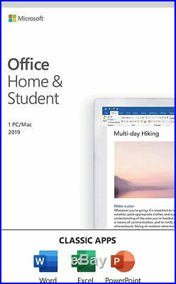 Microsoft Office Home and Student 2019 For 1 User 79G-05186