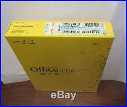 Microsoft Office MAC 2011 Home and Student For 3 User 3-Macs NEW SEALED BOX