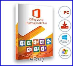 Microsoft Office Pro Plus 2016 Unlimted Users Digital Download