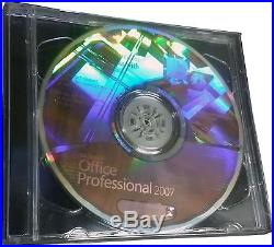 Microsoft Office Professional 2007 for 1 PC NEW! (DVD withHologram) & Key#