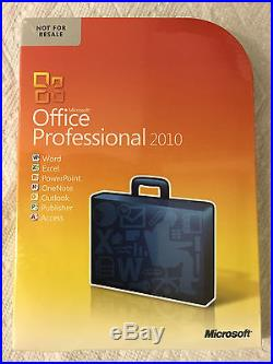 Microsoft Office Professional 2010 BRAND NEW SEALED BOX with No-Risk Guarantee
