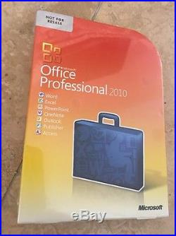 Microsoft Office Professional 2010 BRAND NEW SEALED Complete