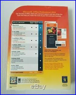Microsoft Office Professional 2010 Full Version Genuine Retail New Sealed
