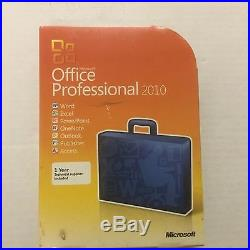 Microsoft Office Professional 2010 New In Factory Sealed Box 64/32 Bit Discs