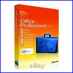 Microsoft Office Professional 2010 Retail FULL VERSION (For 1 PC / For 3 PC)