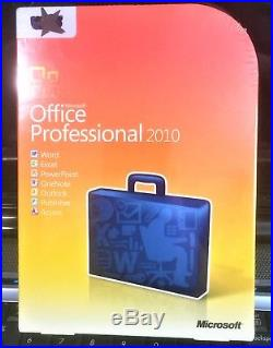 Microsoft Office Professional 2010, Sealed Retail Box, Full, Word, Excel, Access
