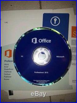 Microsoft Office Professional 2013 1 PC Full Retail 100% Genuine With DVD