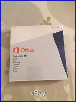 Microsoft Office Professional 2013 English Retail DVD with keys -Sealed