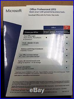 Microsoft Office Professional 2013, Full, Word, Excel, Access, 269-16094 SEALED
