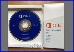 Microsoft Office Professional 2013 for 1 PC (DVD & Key)