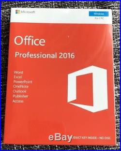 Microsoft Office Professional 2016 For 1 PC Retail Box Original Sealed Pack