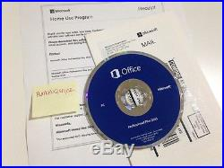 Microsoft Office Professional Plus 2013 Brand New (2 PC's) ORIGINAL with DVD