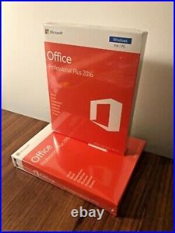 Microsoft Office Professional Plus 2016 32/64 Bit New & Sealed Retail Pack
