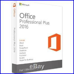 Microsoft Office Professional Plus 2016 Vollversion Download